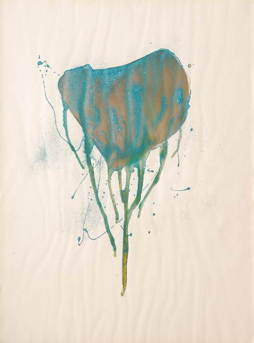 Dripping Heart, Mixed media on varying papers and prints, Varying sizes, 2008 04