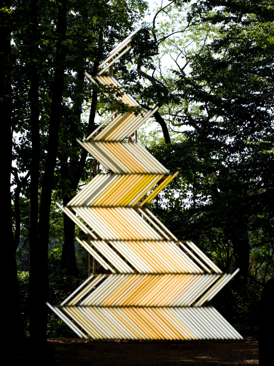 Flame -Gate-,Light installation, 850 x 530 cm, 2009