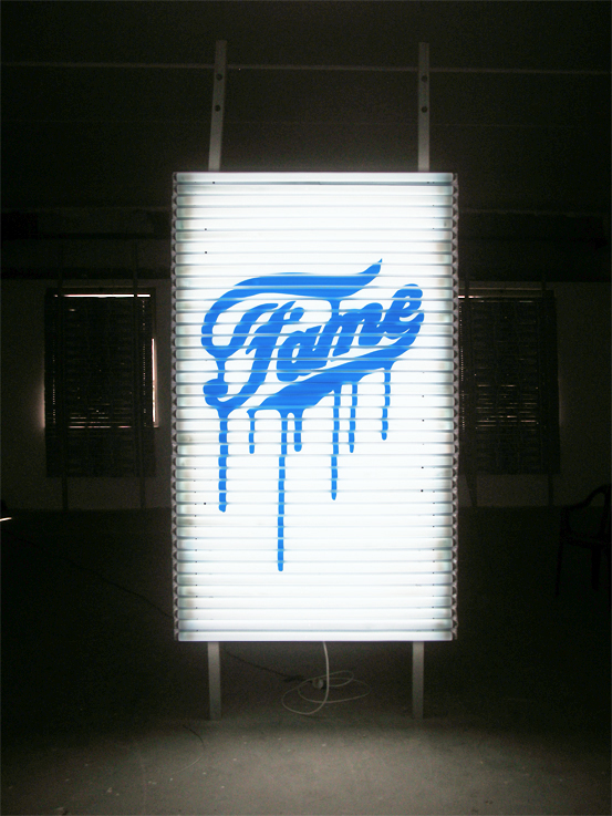 IM Not Gonna Live Forever -Light installation-, 120 x 200 cm each, 2009