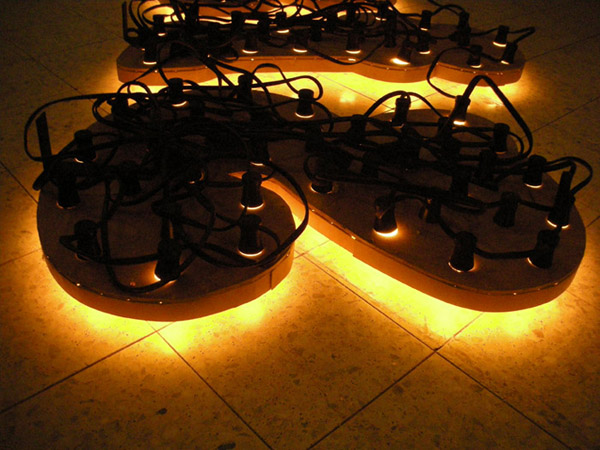 Inverted Fantasy -Light installation-, Mixed media, 115 x 380 cm, 2007 02