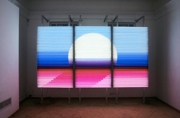 The Sunset -Light installation-, 200 x 360 cm, Part of the Telepatia instalation, 2008