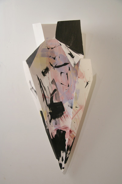 Paper Sculpture, ink on folder paper, 2009 02