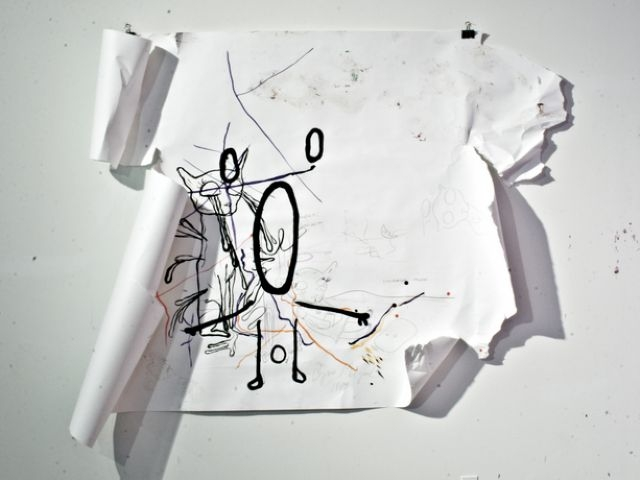 Untitled, drawing on papaer, 152.4 x 215.9 cm, 2008