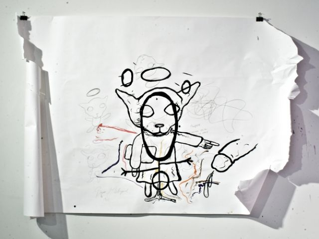 Untitled, drawing on papaer, 156.6 x 236.2 cm, 2008