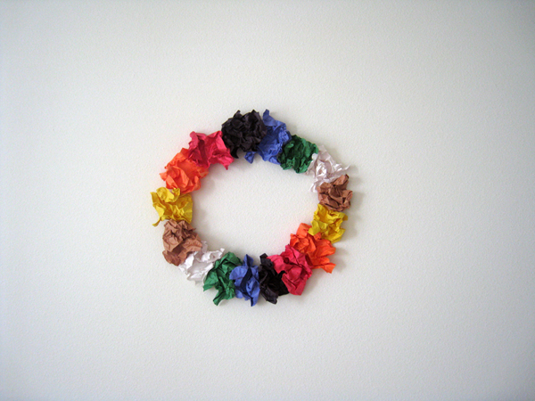 rainbowflowers 1, folded paper, 24 x 24 inches, 2010